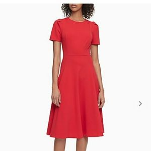 Calvin Klein Short Sleeve A-Line dress